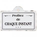 Plaque métal Citation 25 x 18