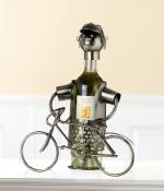 Porte-bouteille vin décoratif – Vélo - Sculpture en métal - Idée cadeau