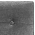 Pouf en Velours Gris - Coffre de rangement pliable