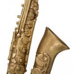 Saxophone doré, H27 cm, Objet décoratif