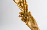 Sculpture Mains dorées