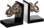 Serre-Livres Eléphants en résine H 13 cm