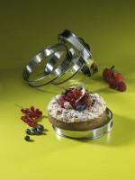 Set de 4 Cercles à Tartelettes, Inox, Bords Roulés, 8 x 2,5 cm, Patisse