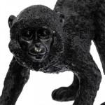 Statuette Singe noir à longue queue H 41 cm