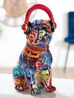 Statue Bulldog avec casque