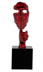 Statue visage rouge Shut Secreto
