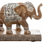 Statue 3 éléphants en polyrésine, L 46 cm