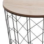 Table café métal noir Kumi Pop- H 41 cm