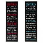 Tableau « Les règles » - 33 x 118 cm