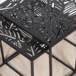 Tables gigognes ajourées en métal noir