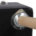 Tabouret coffre valise gris
