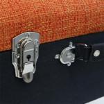 Tabouret coffre valise patchwork – Multicolore
