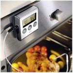 Thermomètre numérique à four avec minuteur