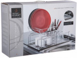 Égouttoir à vaisselle sur 2 niveaux avec plateau amovible - Inox