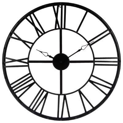 Horloge métal noir D70