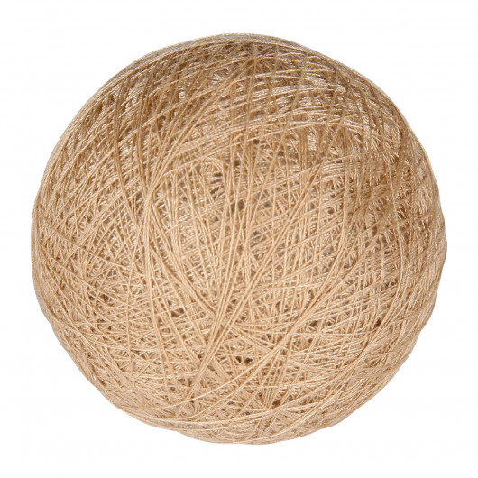 Boule tissu taupe