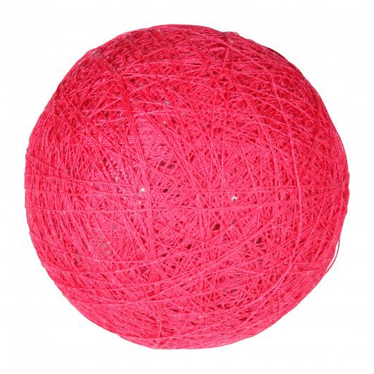 Boule tissu fuchsia