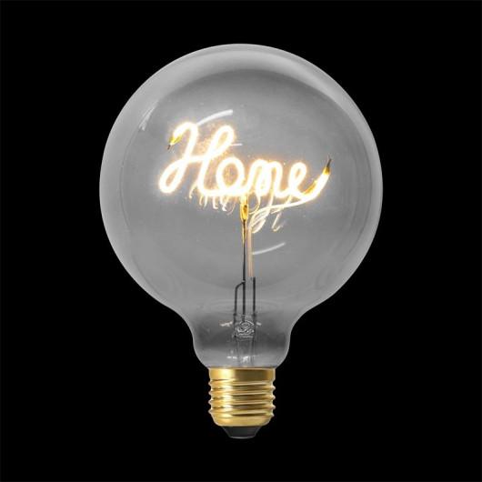 Ampoule décorative HOME, Grise ronde 4W, G125 E27