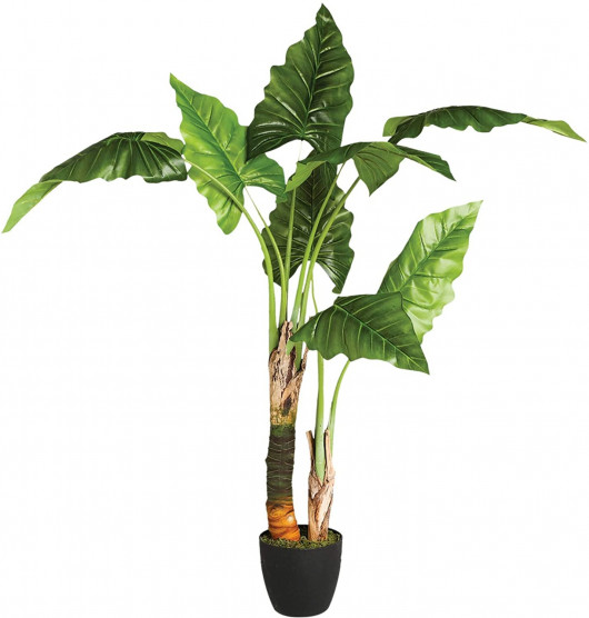 Bananier artificiel en pot, H 120 cm