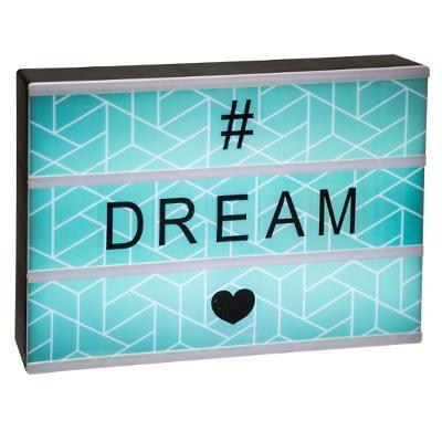 Boîte lumineuse à message Dream 30x22 cm