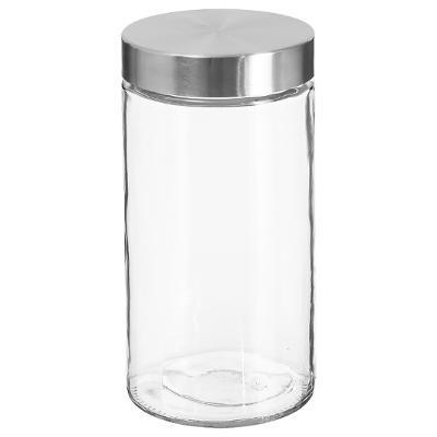 Bocal en verre+ Inox 1,70L, D 11 x H 22 cm, Conservation des aliments