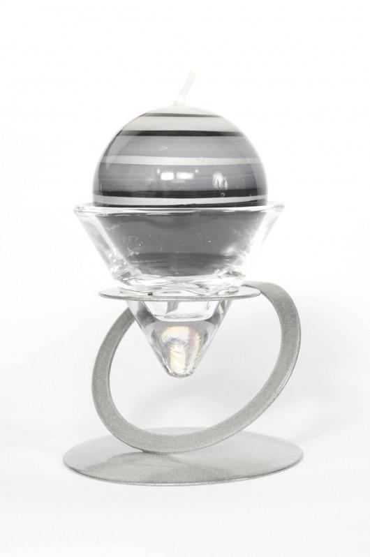 Bougeoir anneau argent