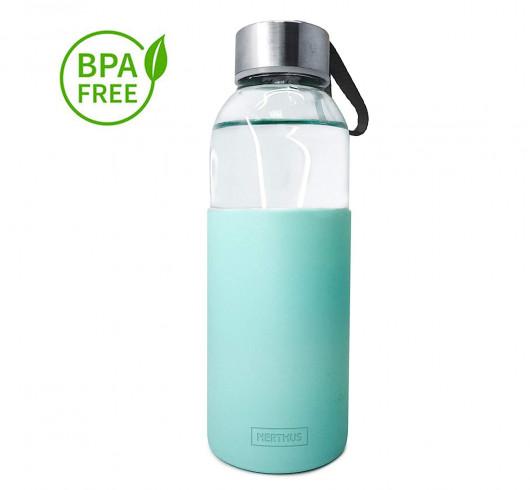 Bouteille - gourde en verre 400 ml - Turquoise