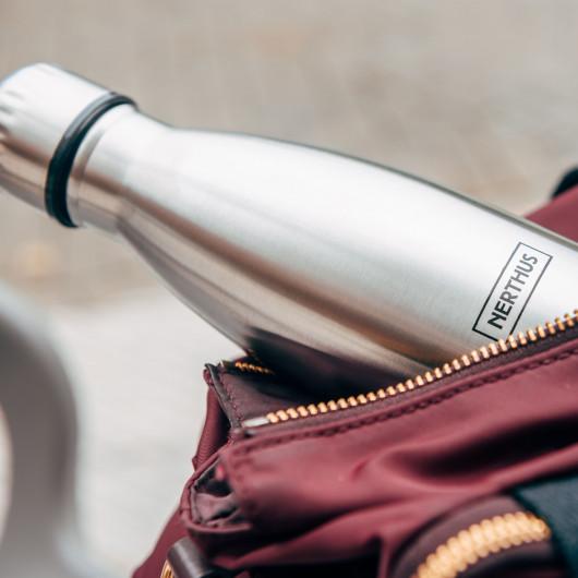 Bouteille isotherme Inox à double paroi, 500 ml, Gourde en acier inoxydable - Garde Froid 8h ou Chaud 12h - Sans BPA
