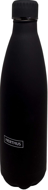 Bouteille isotherme noire à double paroi, 750 ml, Gourde en acier inoxydable - Garde Froid 8h ou Chaud 12h - Sans BPA