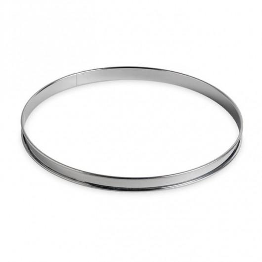 Cercle à tarte inox bords roulés Ø26cm h2,7cm
