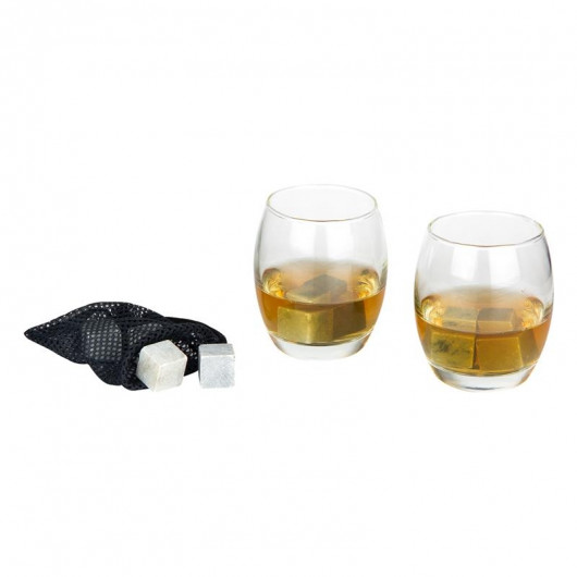 Coffret à whisky - 2 verres et 8 pierres + filet
