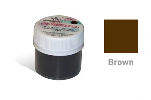 Colorant poudre hydrosoluble Brun 5 g -Silikomart