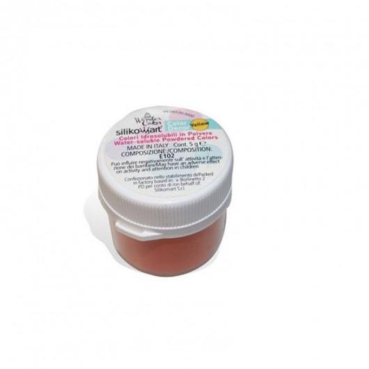 Colorant poudre hydrosoluble jaune 5 g - Silikomart