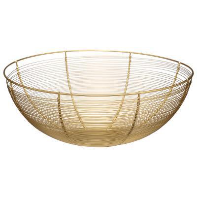 Corbeille à fruits Design Contempo 32cm, doré