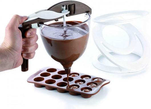 Entonnoir pâtisserie à piston, Funnel choc, Silikomart