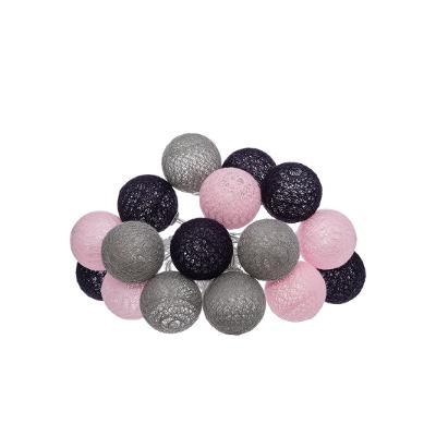 Guirlande LED, Piles, 16 mini boules D 3,5 cm, Soft