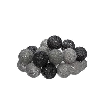 Guirlande LED, Piles, 16 mini boules D 3,5 cm, Soft