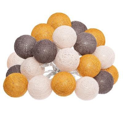 Guirlande LED, Secteur, 20 boules D 6 cm, Folk
