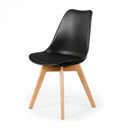 Chaise scandinave avec coussin noire