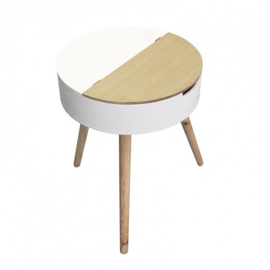 Table coffre blanc - bois