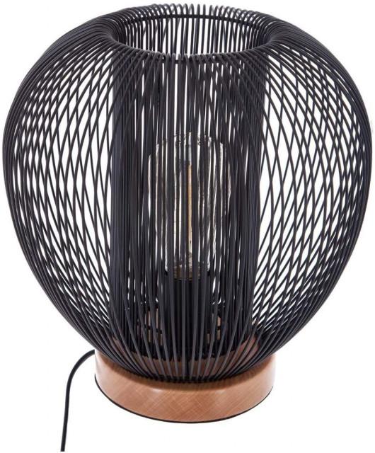 Lampe filaire noire en métal à poser - H27