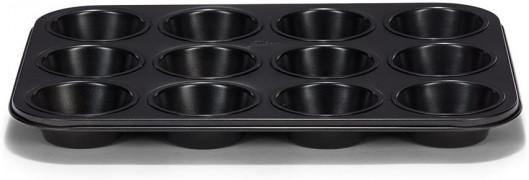 Moule à Muffin 12 pces, D 7cm, Acier noir, Patisse