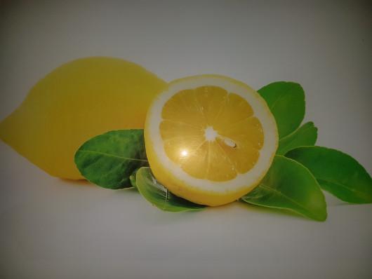 Planche à découper en verre trempé 4mm, 40x30 cm, Décor 2 Citrons