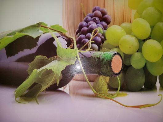Planche à découper en verre trempé 4mm, 40x30 cm, Décor vin