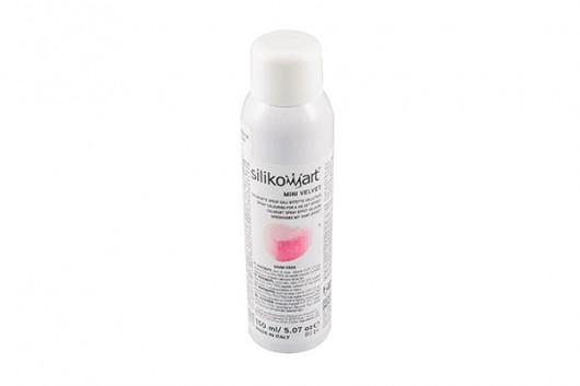 Spray alimentaire, effet velours Rose, 150 ml, Décoration gâteaux - Silikomart
