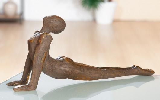 Statue Femme Yoga en résine, 17,50 x 39 cm