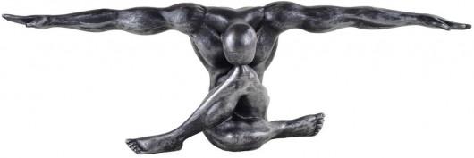 Statue décorative Design Cliffhanger, Argent Antique