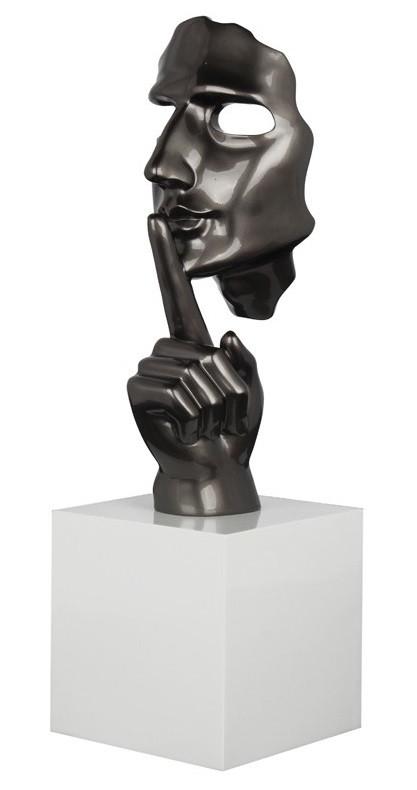 Statue visage gris perle shut secreto