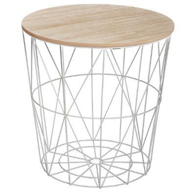 Table café métal gris - H 41 cm