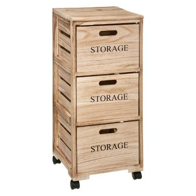 Tour 3 tiroirs en bois, Cagettes